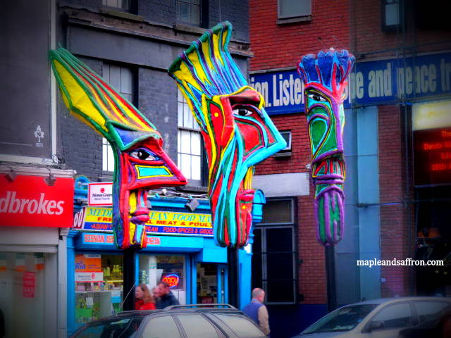 along Dublin streets