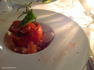 Moustiers - lamb-filled tomato