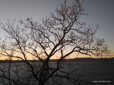 Bracciano Lake at sunset