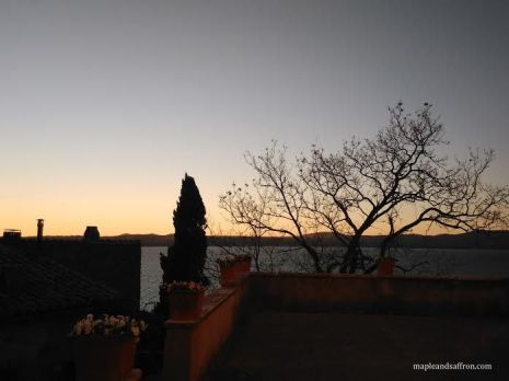 sunset Bracciano Lake